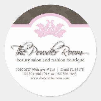 Beauty Salon Address Labels Classic Round Sticker