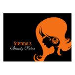 Beauty Salon Appointment Card (Orange) Business Card Templates