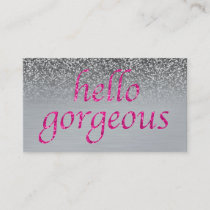 Beauty Salon Appointment Hello Gorgeous Pink Gray