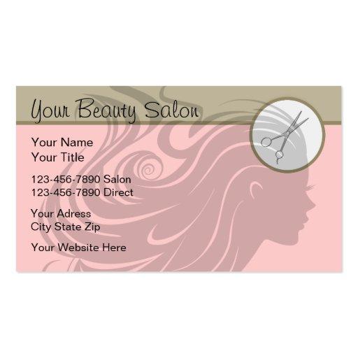 Beauty salon business cards zazzle for A b beauty salon