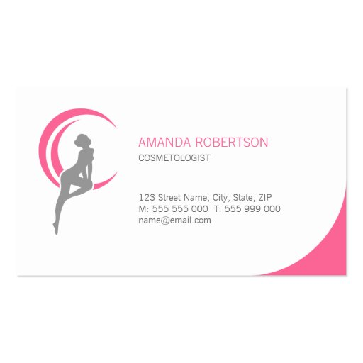 Beauty Salon Cosmetologist business card