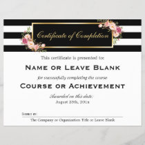 Beauty Salon Course Certificate of Completion