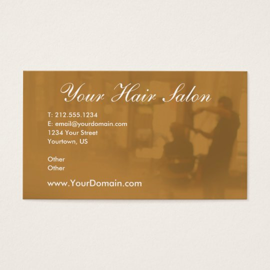 Beauty Salon Customizable Business Cards