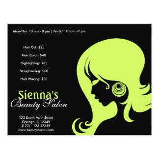 "Beauty Salon (Dark Olive Green) 8.5"" X 11"" Flyer"