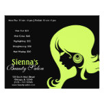 Beauty Salon (Dark Olive Green) Custom Flyer