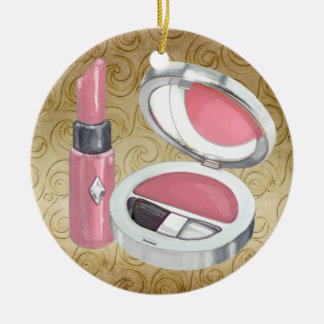 Beauty - Salon - Decked Out Diva Double-Sided Ceramic Round Christmas Ornament