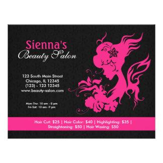 Beauty Salon (Deep Pink) Flyer
