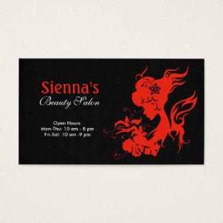 Beauty Salon (Firebrick) Business Card
