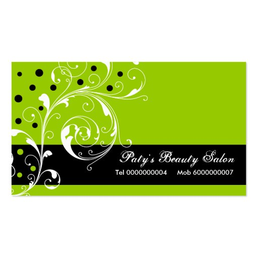 soft blush pink green watercolor floral square business card green