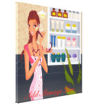 Beauty Salon Girl  Wrapped Canvas Canvas Print