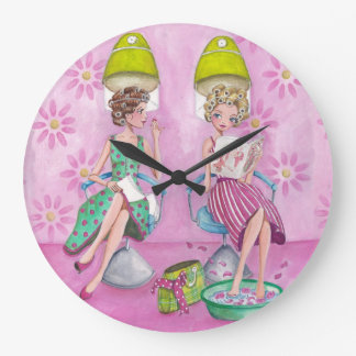 Beauty Salon Girls - Clock
