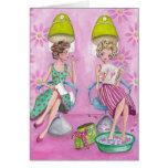 Beauty Salon Girly Pink | Greeting Card