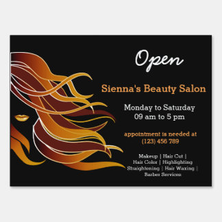 Beauty Salon Hairdresser (brown) Lawn Sign