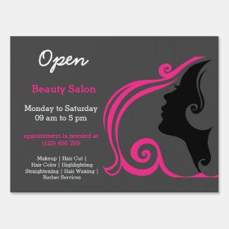 Beauty Salon Hairdresser (deep pink) Yard Sign