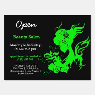 Beauty Salon Hairdresser (lime) Sign