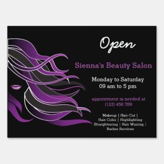 Beauty Salon Hairdresser (purple) Sign