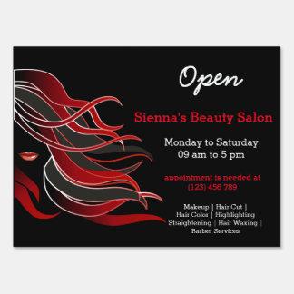 Beauty Salon Hairdresser (red) Sign