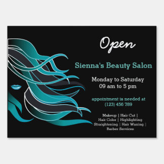 Beauty Salon Hairdresser (turquoise) Lawn Sign