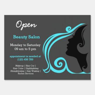 Salon yard lawn signs zazzle for Salon turquoise