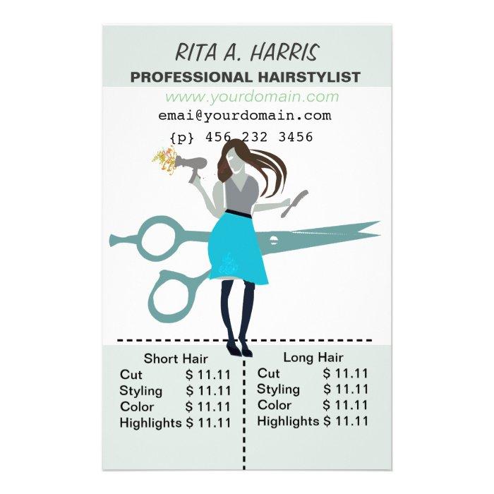 hair stylist flyers