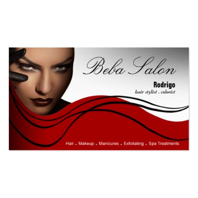Beauty Salon I - Hair Makeup Nails Spa Treatments Business Card by
