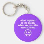 Beauty salon key chain