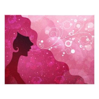 Beauty Salon, Letterhead, Pink Letterhead