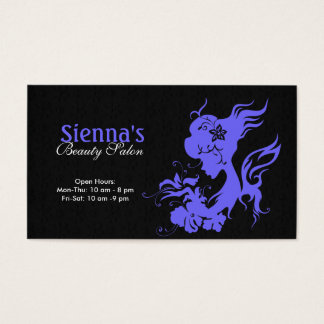 Beauty Salon (Light Slate Blue) Business Card