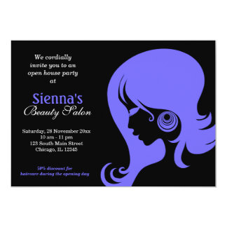 Beauty Salon (Light Slate Blue) Card