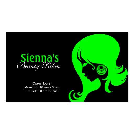 Beauty salon lime business card templates zazzle for Beauty business card templates