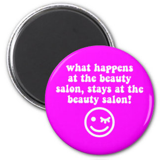 Beauty salon 2 inch round magnet