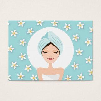 Beauty salon or spa business card - aqua blue