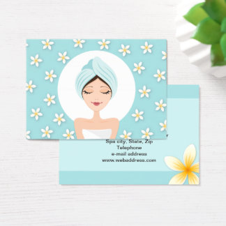 Beauty salon or spa business card - aqua blue