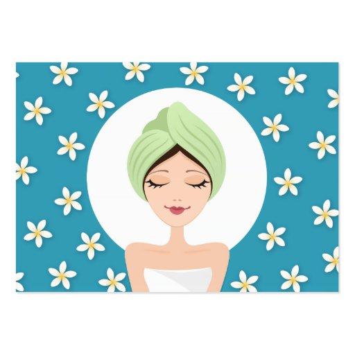 Beauty salon or spa business card - teal blue