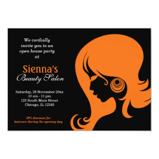Beauty Salon (Orange) Card