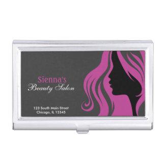 Beauty Salon (Plum) Business Card Case