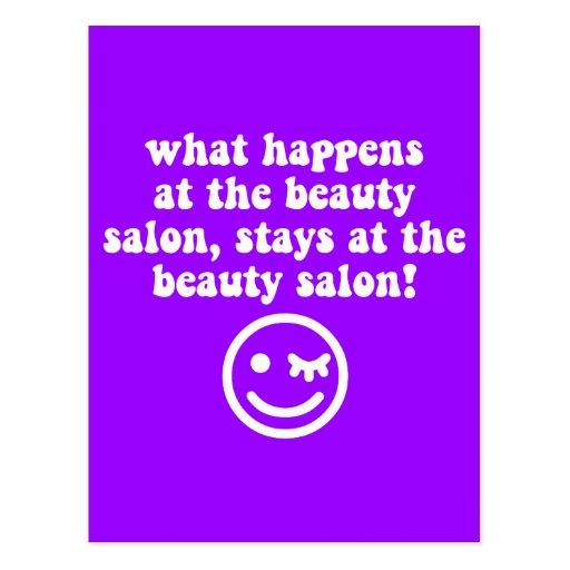 Beauty salon postcard zazzle for A b beauty salon
