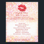 """beauty salon professional makeup artist flyer<br><div class=""""desc"""">beauty salon professional makeup artist red lips on sparkle flyer (please note: this is a printed design with no real glitter)</div>"""