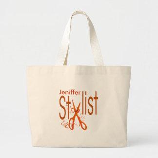Beauty Salon Professional  Stylist Design Large Tote Bag