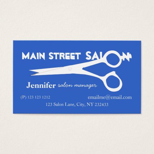Beauty Salon Spa Business Card