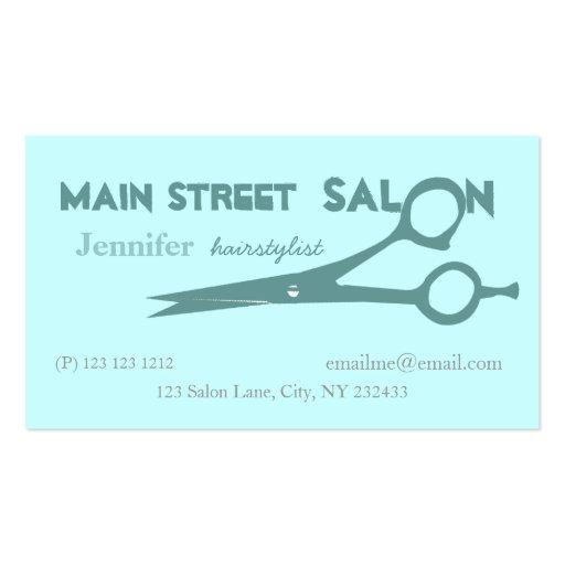 Beauticians hair cutting scissors business card templates for Beauty business card templates
