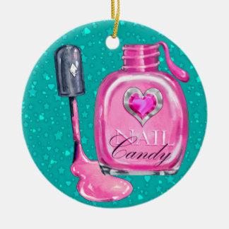 Beauty - Salon - SRF Double-Sided Ceramic Round Christmas Ornament