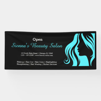 Business indoor outdoor banners zazzle for Salon turquoise