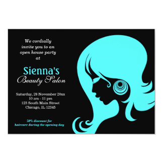Beauty Salon (Turquoise) Card