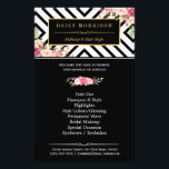 """Beauty Salon Vintage Floral Black White Stripes Flyer<br><div class=""""desc"""">Beauty Salon Vintage Floral Black White Stripes Flyer.  (1) For further customization,  please click the &quot;customize further&quot; link and use our design tool to modify this template.  (2) If you need help or matching items,  please contact me.</div>"""