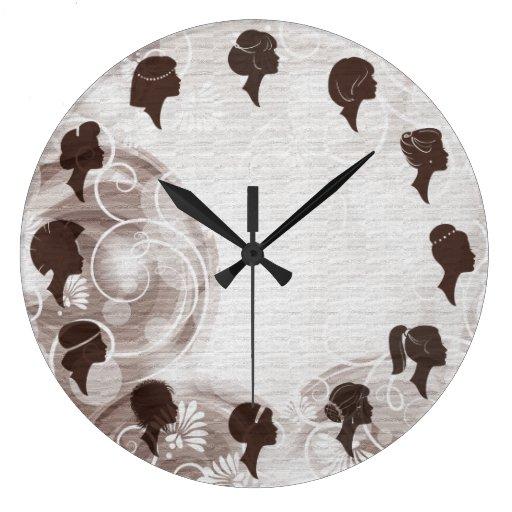 beauty salon wall clock zazzle. Black Bedroom Furniture Sets. Home Design Ideas