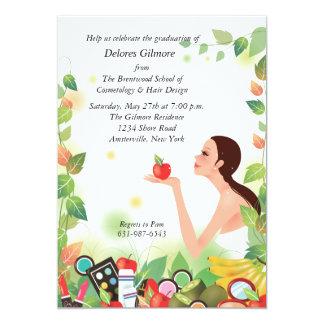 Beauty School Graduation Announcement/Invitation Card