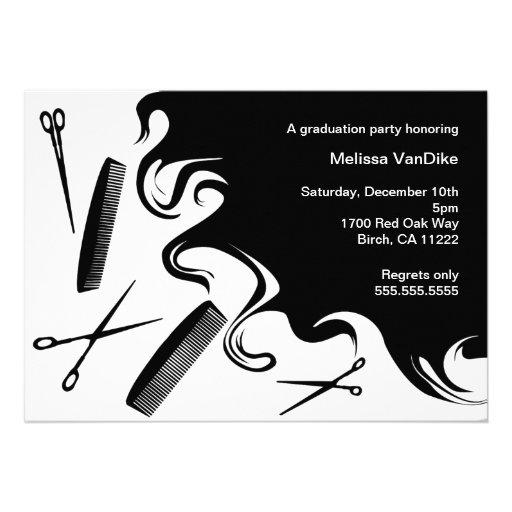 Beauty School Graduation Invitation