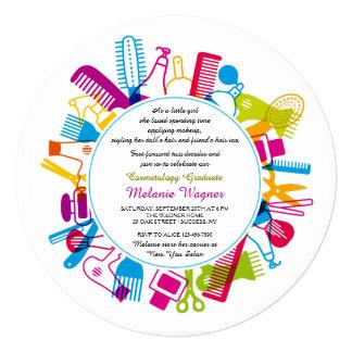 Beauty School Graduation Party Invitation