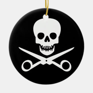 Beauty Shop Pirate_01 Double-Sided Ceramic Round Christmas Ornament